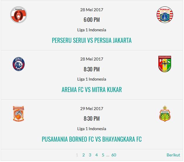 Jadwal Liga Indonesia real time