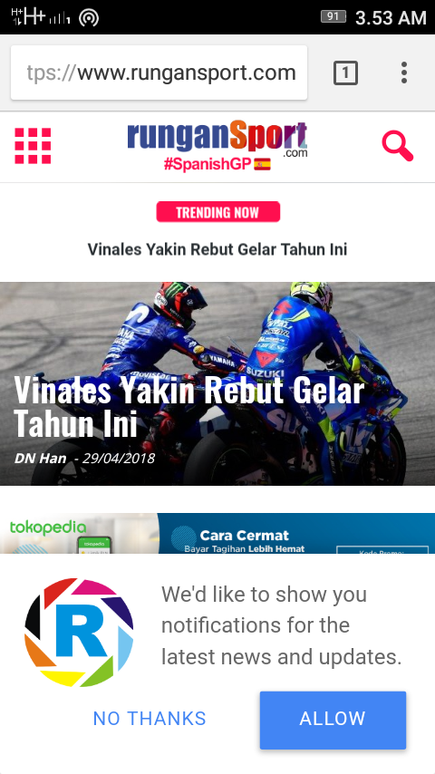 Aktifkan Notifikasi Berita MotoGP di #runganSport Mobile (1)