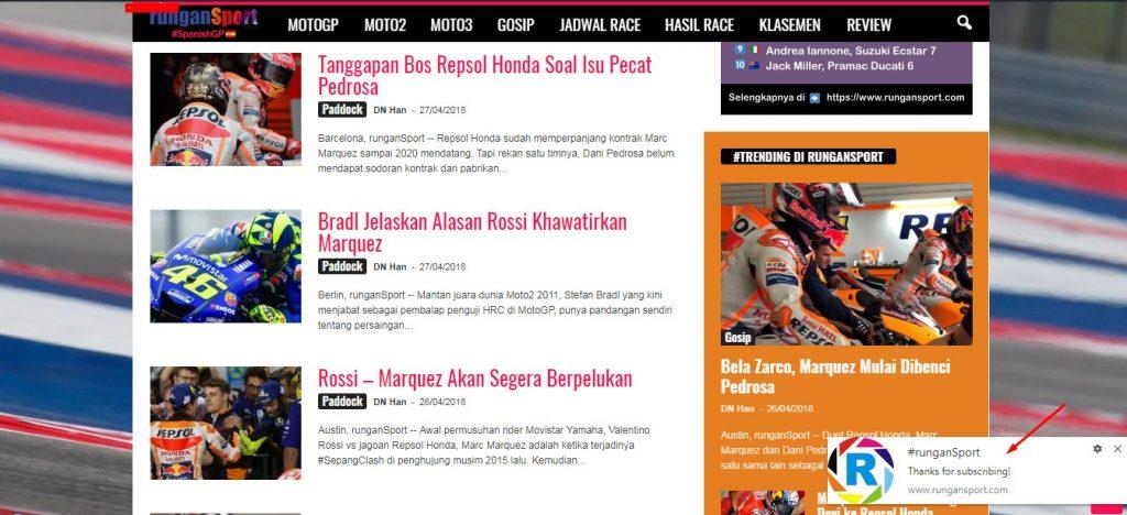 Aktifkan Notifikasi Berita MotoGP di #runganSport
