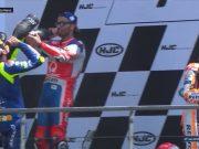 Drama Podium Le Mans, Rossi Cuekin Marquez
