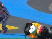 FP3 GP Prancis: Vinales Tercepat, Marquez Kecelakaan