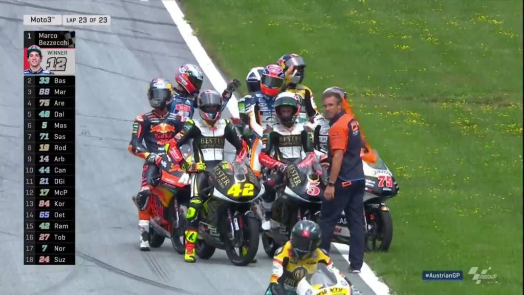 Hasil Lengkap Race Moto3 Red Bull Ring, Austria 2018