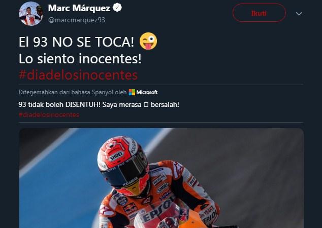 Jangankan Ganti Motor, Ganti Nomor Saja Marquez Takut