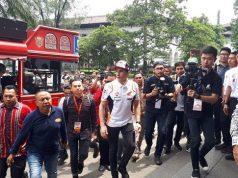 FOTO: Kemeriahan Marquez Keliling Kota Bandung