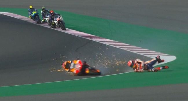 FP3 MotoGP Qatar: Marquez-Lorenzo Kecelakaan, Rossi ke-4