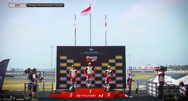 Video: Indonesia Raya Berkumandang di Thailand, Race 1 ATC 2019