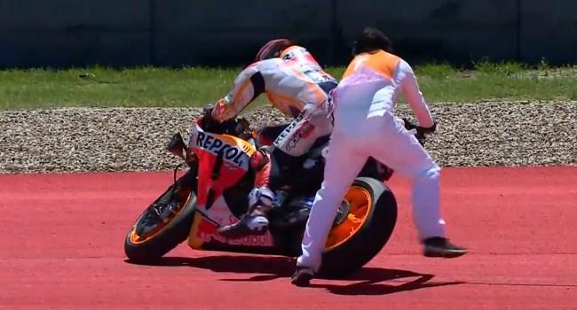 MotoGP Amerika: Reaksi Rossi Saat Lihat Marquez Jatuh