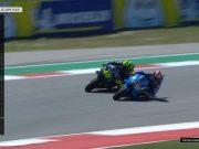 Hasil Race MotoGP Amerika: Rins Kalahkan Rossi, Marquez Jatuh