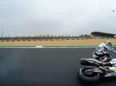 MotoGP Prancis: Mir-Abraham Heran Kompak Jatuh di Lap Pemanasan