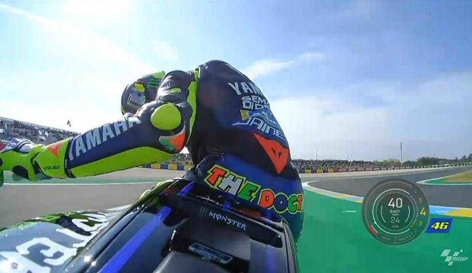 FP1 MotoGP Prancis: Quartararo Terdepan, M1 Rossi Macet