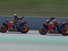 FP3 MotoGP Catalunya: Marquez Marahi Lorenzo di Lintasan