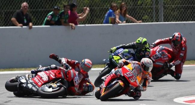 Kecelakaan Beruntun Catalunya, Marquez Bela Lorenzo
