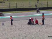 FP1 Moto2 Belanda: Red Flag! Dimas Ekky Kecelakaan Parah