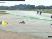 Start MotoGP Inggris: Quartararo Jatuh, Motor Dovi Terbakar