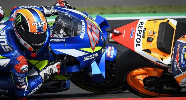 Begini Cara Rins Sikat Marquez di Garis Finis Silverstone