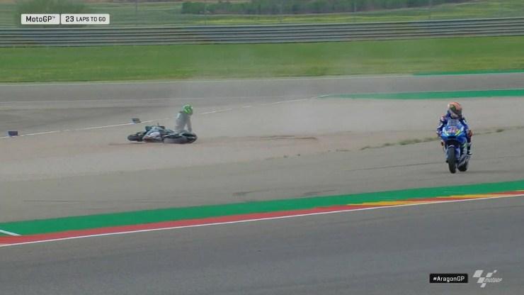 MotoGP Aragon: Rins Ungkap Penyebab Hantam Moridelli