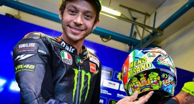 Rossi Perkenalkan Helm Baru Khusus Misano