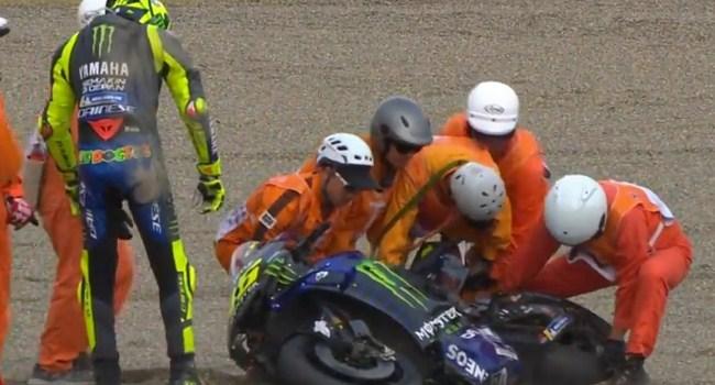 Rossi Jelaskan Penyebab Jatuh di MotoGP Jepang