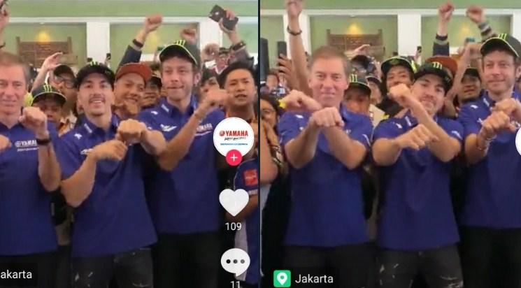 Tiba di Indonesia, Rossi-Vinales Langsung Main TikTok
