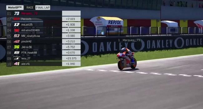 Hasil Race Virtual MotoGP Mugello 2020