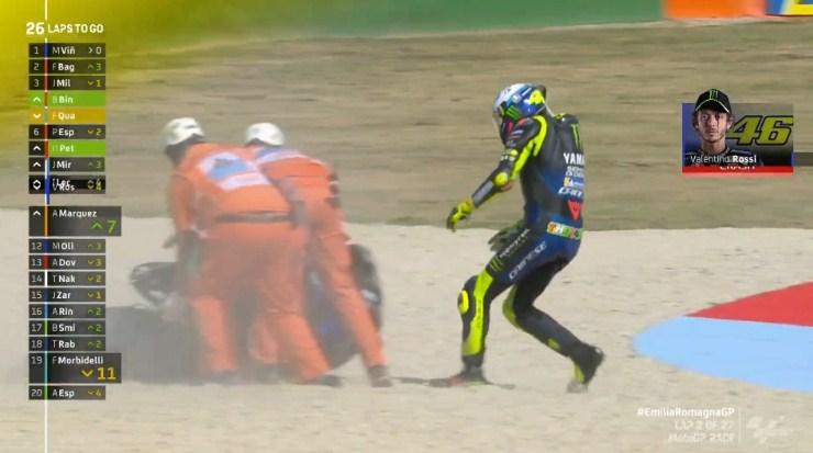 MotoGP Emilia Romagna: Rossi Jelaskan Penyebab Tiba-tiba Jatuh