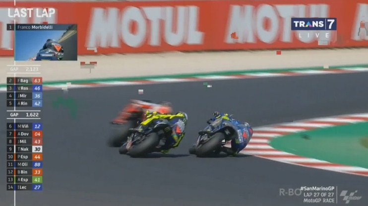 Highlight Last Lap Race MotoGP San Marino: Mir vs Rossi