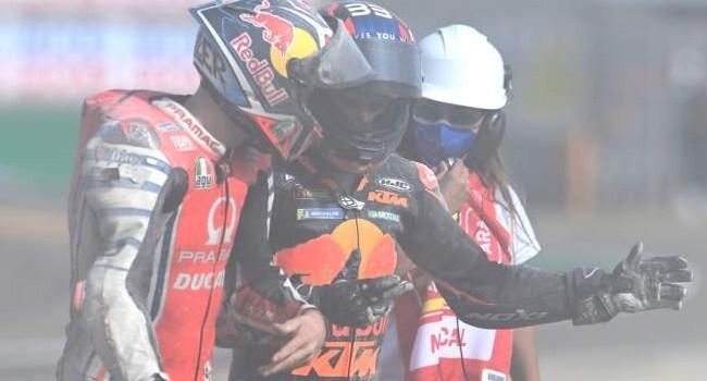 MotoGP Teruel: Binder Tabrak Miller, Ternyara Ini Penyebabnya