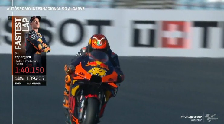 Hasil Latihan Bebas 4 MotoGP Portugal 2020