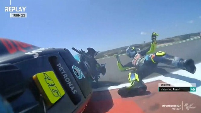Rossi Cerita Penyebab Jatuh di MotoGP Portugal