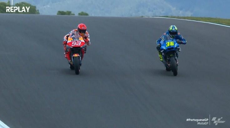 MotoGP Portugal: Mulai Panas, Mir Kesal Dibuntuti Marquez