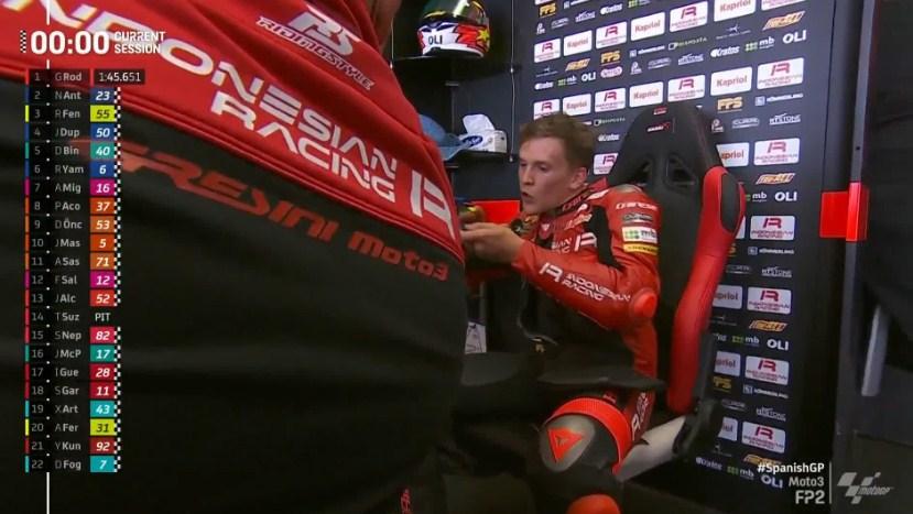 Hasil FP2 Moto3 Spanyol: Rider Indonesian Racing Tercepat, Acosta ke-8
