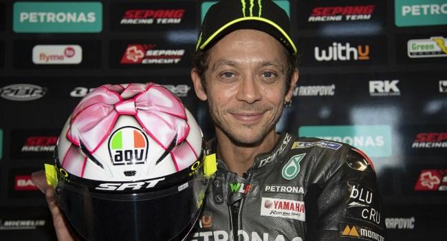 Helm Pink Valentino Rossi Spesial Misano, Ini Maknanya